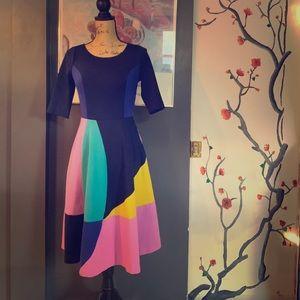 Boden color block dress